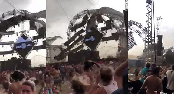 DJ killed after stage collapses during sudden storm at festival