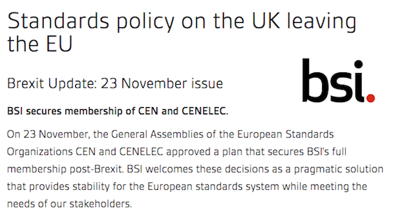 BSI secures membership of CEN and CENELEC