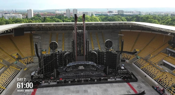 This Time-Lapse Video of Rammstein's 60-Hour Stage Setup Process is Insane